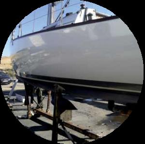 Boatwrap skrog forberedes
